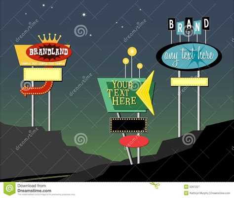 roadside marquee sign retro roadside signs royalty free stock photography