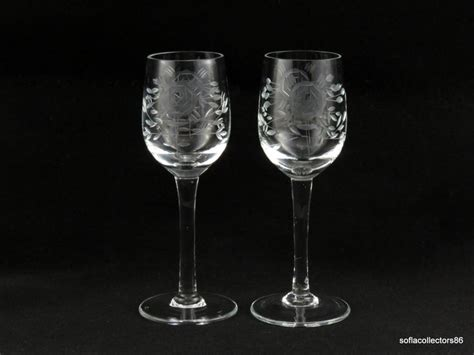 leaf pattern wine glasses 214 best vintage elegant stemware cordials cocktail wine