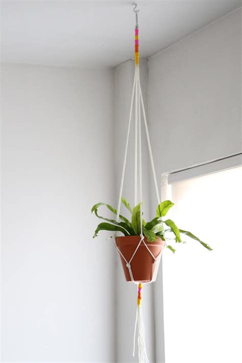 How To Make A Plant Hanger With Rope - diy macrame plant hanger hgtv
