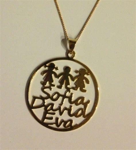 cadenas con nombre chapa de oro dije personalizado nombres chapa oro collar cadena joyas