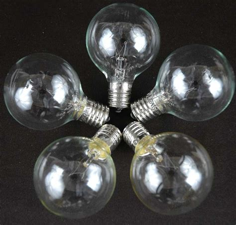 100 Clear G50 Globe String Light Set On White Wire Clear Globe String Lights White Wire