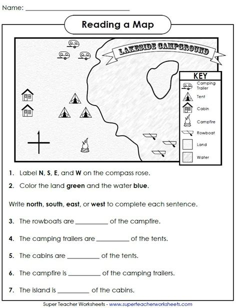 printable map worksheets for 4th grade check out this worksheet from our map skills page to help