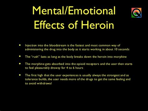 Detox Emotional Effects by Heroin
