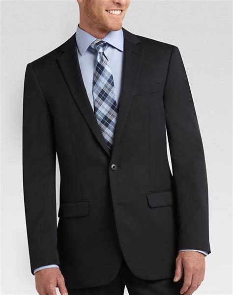 Mens Wear House by Mens Wearhouse Navy Multistripe Slim Fit Suit Separates