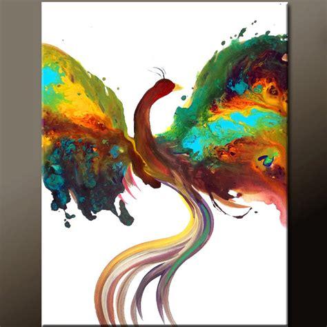 phoenix tattoo abstract abstract phoenix bird painting original contemporary art