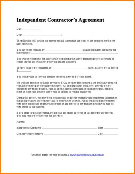 Employment Contract Template Word Sarahepps Com Employment Agreement Template Word