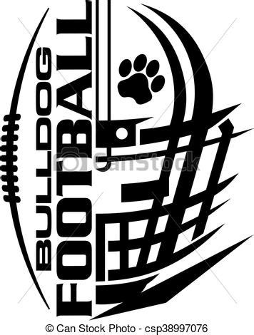 bulldog football team design with helmet and facemask for