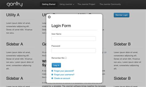 html tutorial user login image gallery joomla sign in