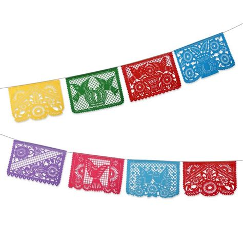 How To Make Mexican Paper Banners - mexican bunting flags tiki bar desirables