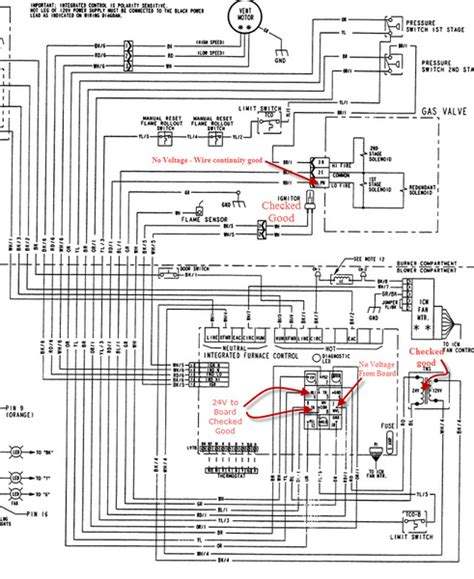 wiring diagram trane gas furnace k