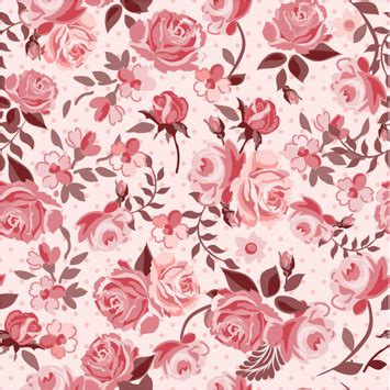download pattern rose retro styles roses seamless pattern vector free vector in