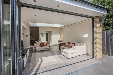 living room extension cost kitchen and garage extension by l e in surbiton don t move extend contemporary living