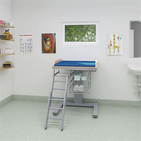 Baby Changing Station Height Tiny Nursery Corner Teal Height Of Changing Table