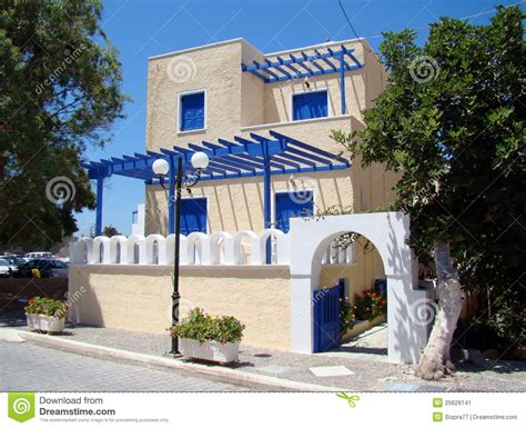 modern greek house design a modern greek house stock image image 25628141