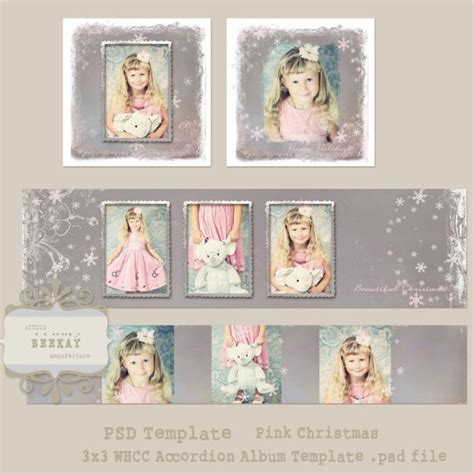 templates for accordian cards whcc 3x3 whcc template accordion album template pink by