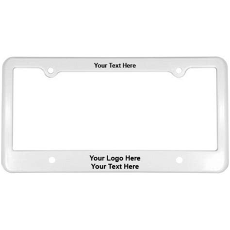 Vanity License Plate Frames by Personalized License Plate Frames With 4 Holes