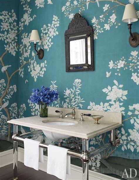 wallpaper blue bathroom peacock blue wallpaper asian bathroom architectural