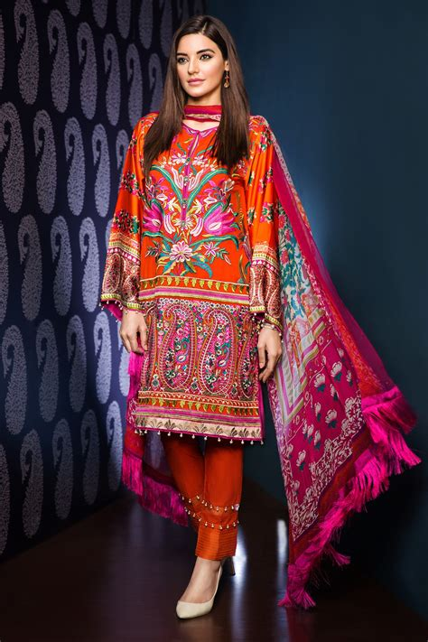 Winter Jacket Anak Perempuan Winter Collection khaadi p16812 orange winter collection vol 2 unstitched dresses winter