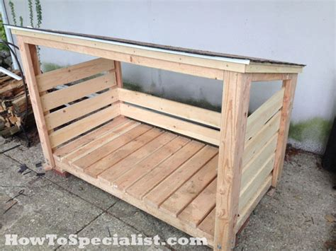 Firewood Rack Plans by Diy Firewood Shed Howtospecialist How To Build Step
