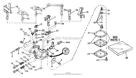 tecumseh engine carburetor diagram tecumseh ca 631229 parts diagram for carburetor
