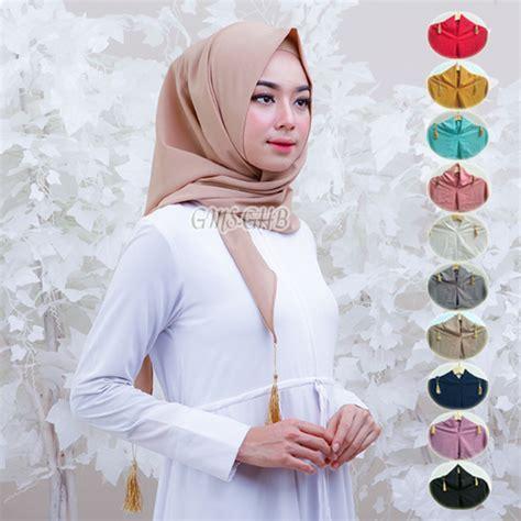 jilbab segi empat instan terbaru 2018 elegan