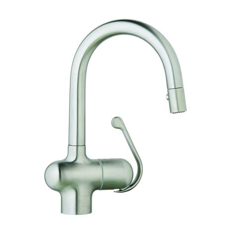 kitchen faucets stainless steel pull out grohe ladylux pro single handle pull out sprayer kitchen