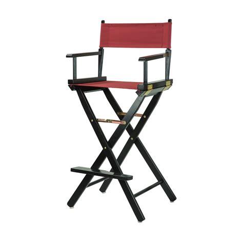 black directors chair 30 quot director s chair black frame burgundy canvas
