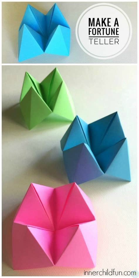Make Paper Fortune Teller - how to make paper fortune tellers inner child