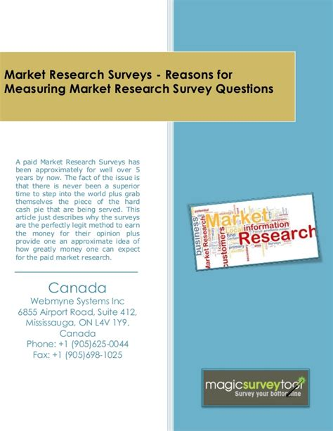 Market Research Paid Surveys - market research surveys reasons for measuring market research surve