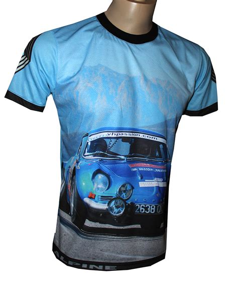 renault alpine t shirt with logo and all printed