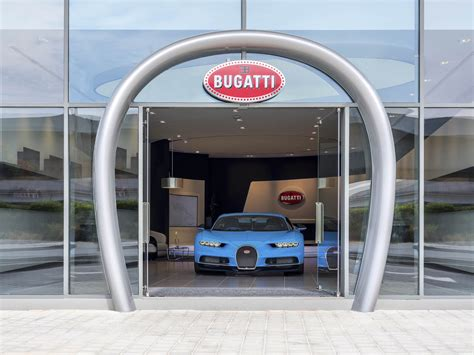 bugatti showroom bugatti s opened its largest dealership in that s right