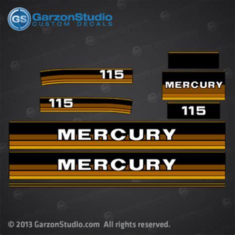 1984 1985 mercury 115 hp decal set mercurydecals