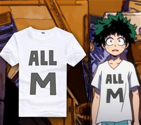 Kaos Anime Boku No Academia Izuku Midoriya Shirt Kc Bha 03 boku no academia t shirt my academia izuku midoriya costume tops ebay