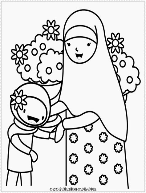 mewarnai gambar anak perempuan mewarnai gambar contoh gambar mewarnai anak muslim annaseha