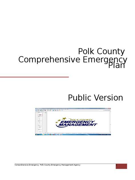 comprehensive emergency management plan template comprehensive emergency plan