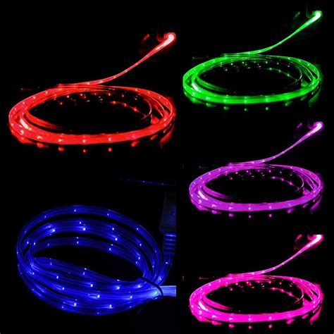 led light up charger cable luminescent visible smart sync