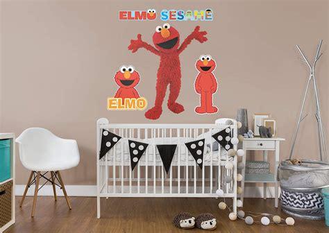 elmo wall stickers elmo wall decal shop fathead 174 for sesame decor
