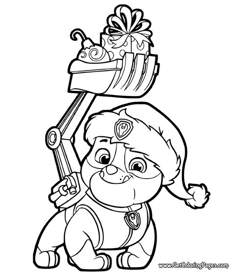 christmas coloring pages paw patrol paw patrol coloring pages to print getcoloringpages com