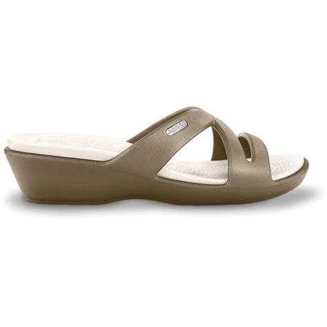 On Sale Crocs Mini Wedge 4cm crocs ii khaki oyster mini wedge sandal made