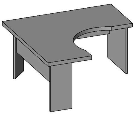revitcity object desk with return