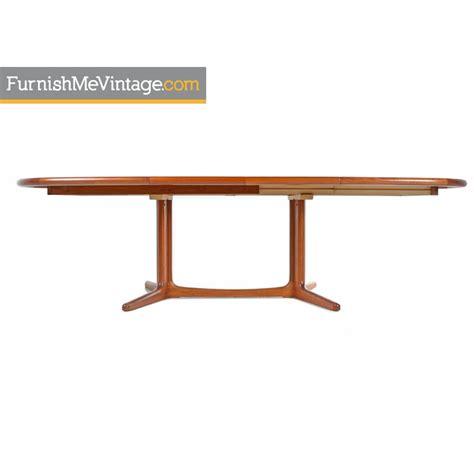 trestle base dining table modern trestle base teak extending dining table
