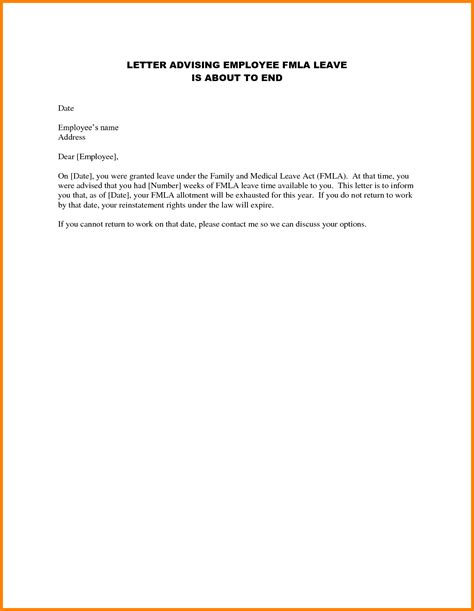 Lease Departure Letter letter of employment for landlord sle