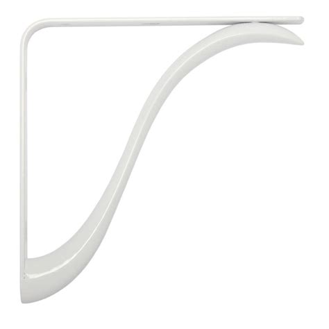 decorative shelf brackets home depot knape vogt charleston 7 75 in l x 0 75 in w white 200