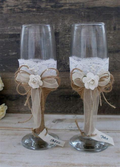 Best 25  Rustic wedding glasses ideas on Pinterest