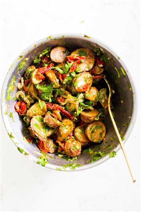 Crispy Salad Potato crispy potato salad with anchovy chimichurri recipe dishmaps