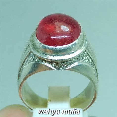 Cincin Batu Ruby batu cincin ruby merah delima asli kode 976 wahyu mulia