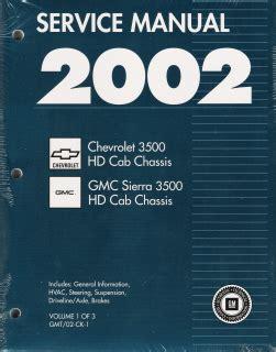 car repair manuals download 2010 gmc sierra 3500 free book repair manuals 2002 chevrolet 3500 hd cab chassis gmc sierra 3500 factory service manual 3 volume set