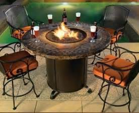 patio table with pit built in pits quality outdoor products