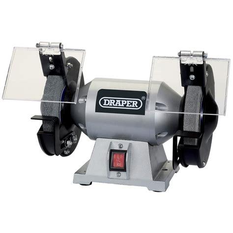 draper bench grinder draper 150mm 230v bench grinder 66804 stationary power tools