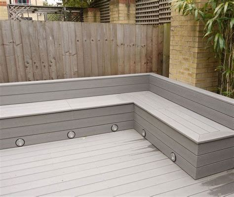 built in corner bench seating it s time to sort out the back garden different decking